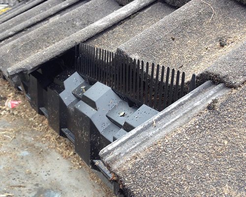 Vogelwering vogelwerende dakvoetprofielen dakreparatie